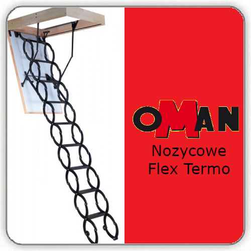 Чердачная лестница Oman Nozycowe FLEX TERMO — 70-100-290