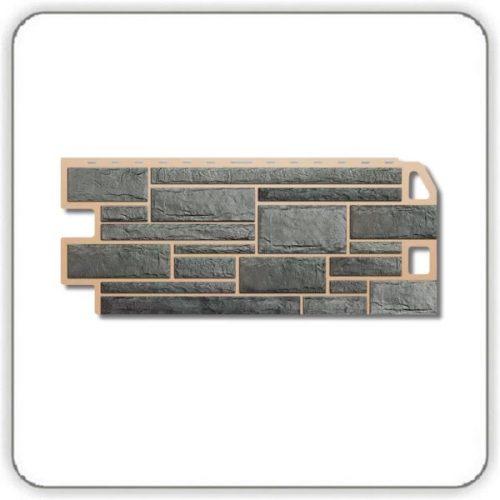 Фасадная панель Альта-Профиль Камень - Серый