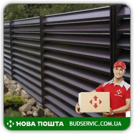Забор Жалюзи Темно-коричневый 8019 - цена