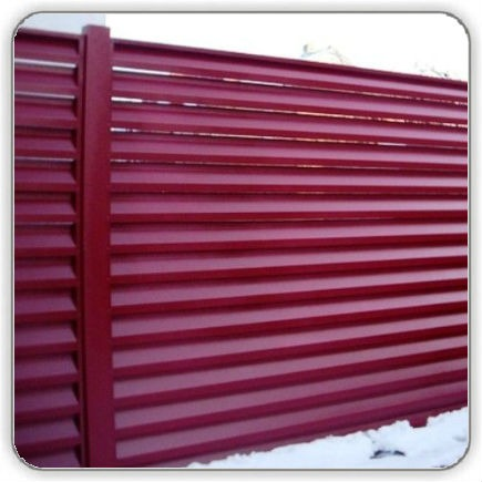 Забор Жалюзи Красный 3005 RAL - цена