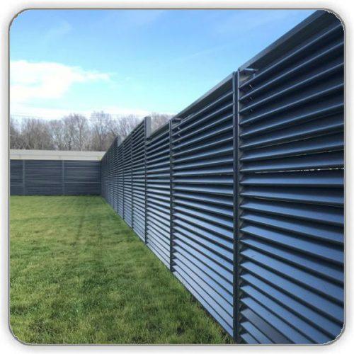 Забор Жалюзи Темно-серый 7024 - цена