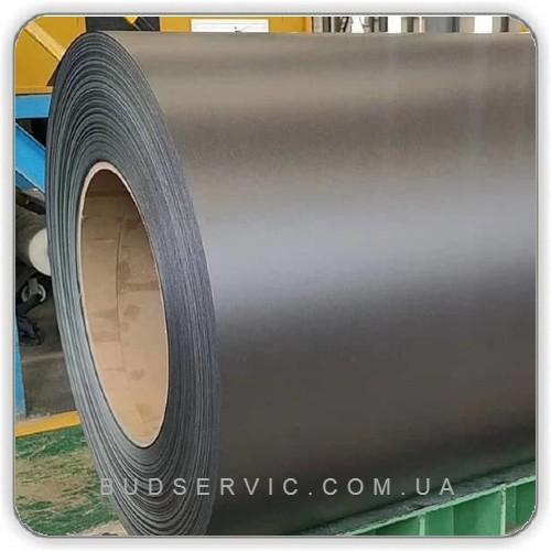 RAL 8019 - 0,70 - Рулонная сталь Mittal SEAH Корея - гладкий лист с полимерным покрытием