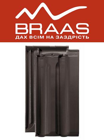 Braas Granat 13v - Антрацит Ангоб - Керамическая черепица