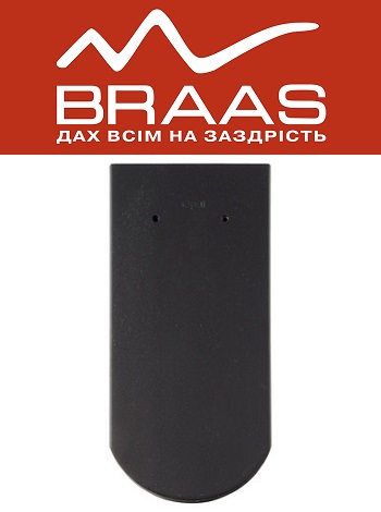 Braas Opal - Антрацит Ангоб - Керамическая черепица
