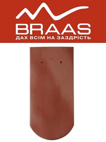 Braas Opal - Каштан Глазурь - Керамическая черепица