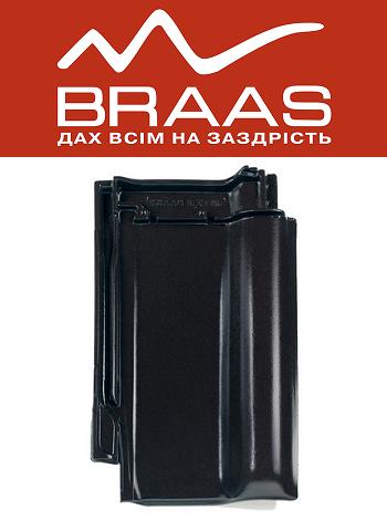 Braas Rubin 13v - Черный Глазурь - Керамическая черепица