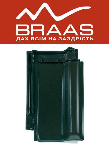 Braas Rubin 13v - Зеленый Топ глазурь - Керамическая черепица