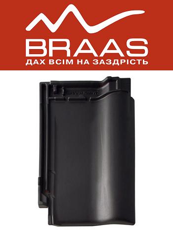 Braas Rubin 9v - Антрацит Ангоб - Керамическая черепица