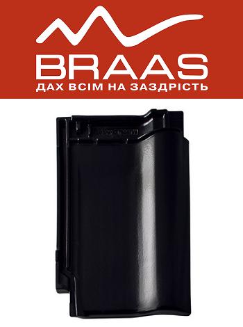 Braas Rubin 9v - Черный Глазурь - Керамическая черепица