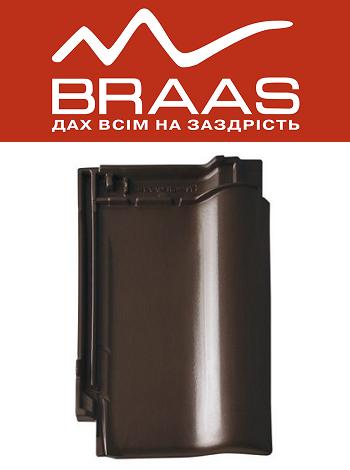 Braas Rubin 9v - Тек Глазурь - Керамическая черепица