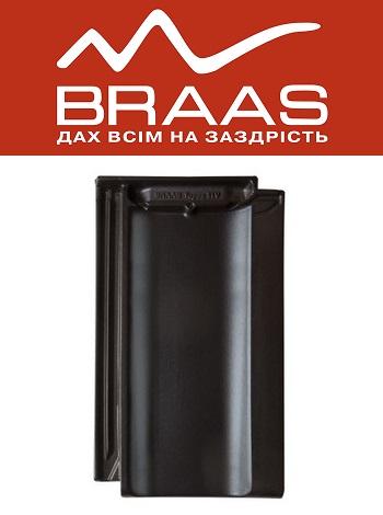 Braas Topaz 11v - Антрацит Ангоб - Керамическая черепица