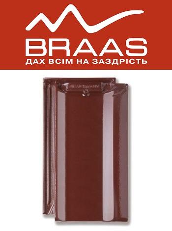 Braas Topaz 11v - Вишневый Топ Глазурь - Керамическая черепица