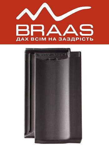 Braas Topaz 13v – Антрацит Ангоб – Керамическая черепица