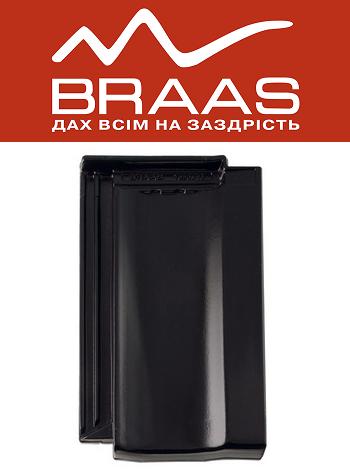 Braas Topaz 13v – Черный Глазурь – Керамическая черепица