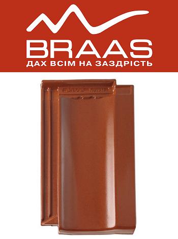 Braas Topaz 13v – Каштан Глазурь – Керамическая черепица