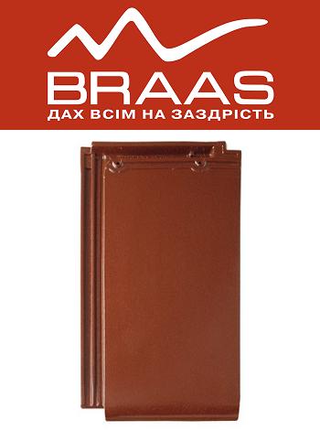 Braas Турмалин – Каштан Глазурь – Керамическая черепица