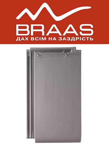 Braas Турмалин – Серый Топ Глазурь – Керамическая черепица
