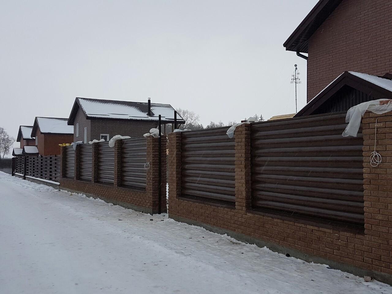 Забор из блок хауса фото 8