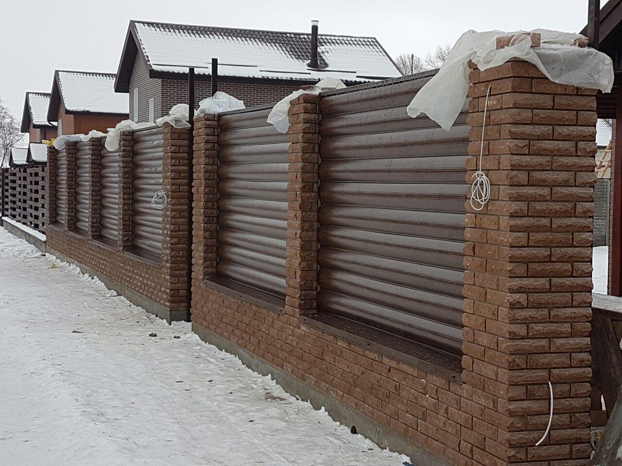 Забор из блок хауса фото 6