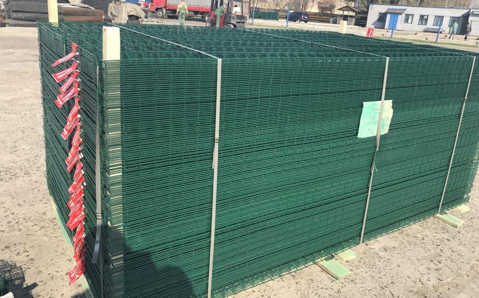 Забор секционный из сварной сетки. Будсервис Киев