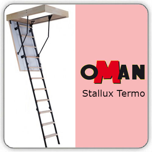 Чердачная лестница Oman STALLUX TERMO — 60-120-280