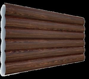 Блок-хаус металлический - цвет Венге - Будсервис