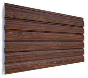Сайдинг металлический - цвет Венге - Будсервис