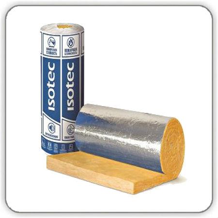 Фото Утеплитель Изовер Isotec Mat-AL 50 мм, 5000-1200мм (6,0 кв.м.-рулон) - Будсервис