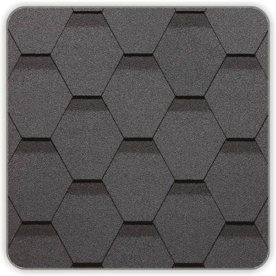 Битумная черепица Docke Simple Сота - цвет Серый