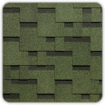 Битумная черепица Docke Simple Тетрис - цвет Зеленый