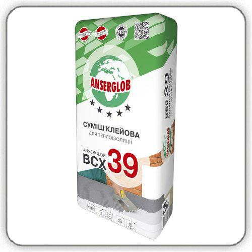 Клей для утеплителя Anserglob BCХ 39, 25 кг