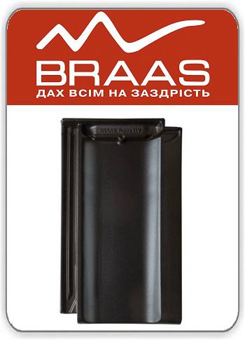 Braas Topaz 11v — Антрацит Ангоб — Керамическая черепица