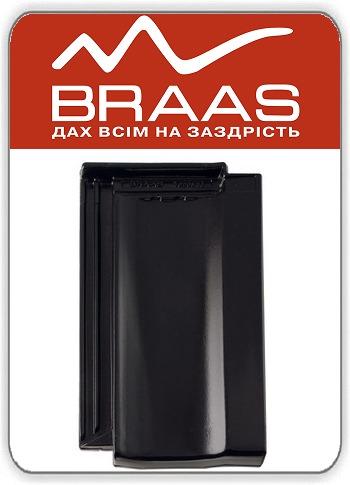 Керамическая черепица Braas Topaz 13v – Черный Глазурь цена