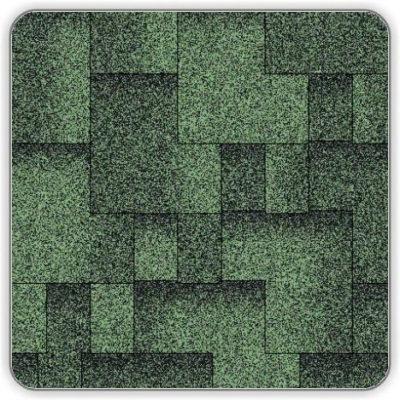 Битумная черепица Акваизол Акцент Эко - цвет Зеленый