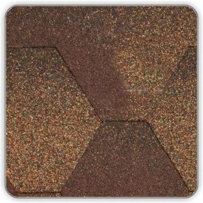 Битумная черепица Акваизол Мозаика МИКС - цвет Коричневый