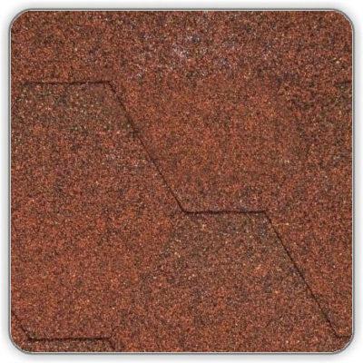 Битумная черепица Акваизол Мозаика МИКС - цвет Красный