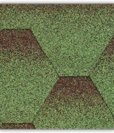Битумная черепица Акваизол Мозаика МИКС - цвет Зеленый