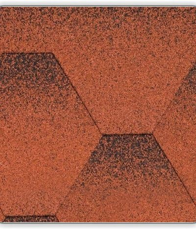 Битумная черепица Акваизол Мозаика - цвет Красный мак