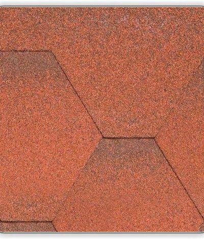 Битумная черепица Акваизол Мозаика - цвет Огненная лава