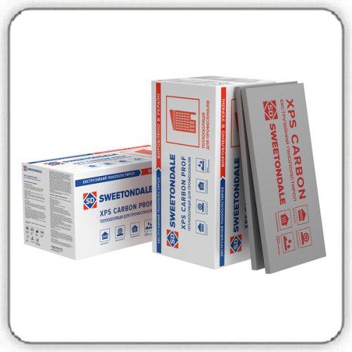 Экструзионный пенополистирол SWEETONDALE CARBON PROF 250 SLOPE-3,4% S2 1200х600х80 Элемент K - Будсервис