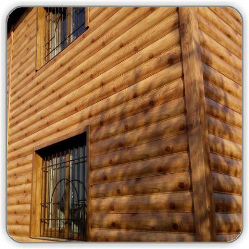 Блок-хаус металлический - цвет Log
