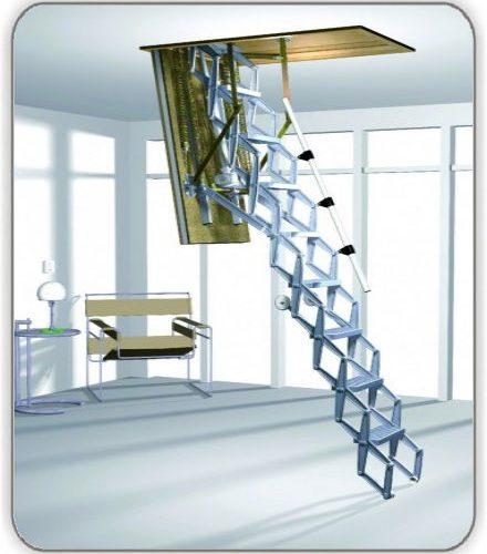 Чердачная лестница Roto Elektro ножничная - 70-120-279 см