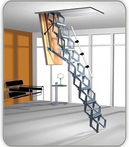 Чердачная лестница Roto Exclusiv ножничная - 70-140-279 см