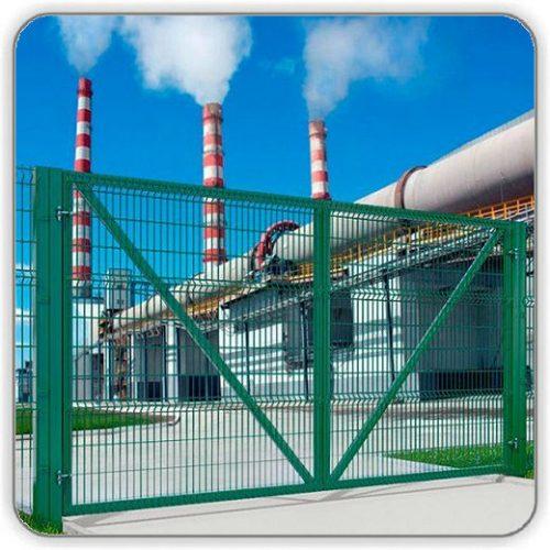 Фото Ворота распашные для забора из сварной сетки - 1260-4000 мм - Будсервис