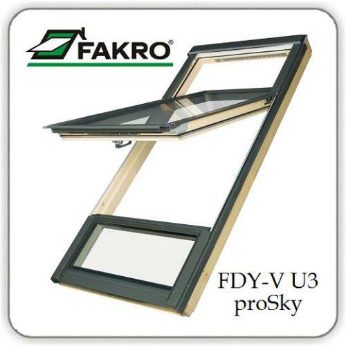 Панорамное мансардное окно FDY-V U3 Duet proSky