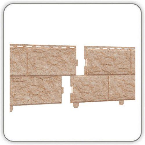 Фасадная панель Пластикс - Камень Золотистый